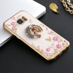 360 Degree Clasp Ring Holder TPU Soft Back Case Cover For Samsung Galaxy S6 Edge G9250