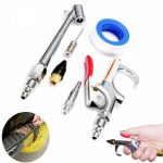 10Pcs Car Compressor Air Duster Blow Gun Cleaning Tool Kit With Gas Nozzle Needle Parts
