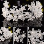 Bride Flower Artificial Pearl Headpiece Bridal Wedding Headband Hair Accessories