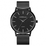 CRRJU 2117 Luxury Men Quartz Watch Fashion Ultra Thin Waterproof Wristwatch
