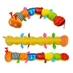 Baby Musical Caterpillar Rattle Infant Catoon Ring Bell Toy Devolopment Toys