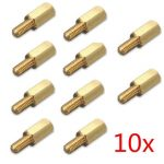 10pcs 3mm Brass Standoff Spacer M3 6mm Male 8mm Female Thread