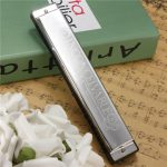Swan Harmonica 24 Holes Key Of C Silver with Case