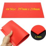 A4 2.3mm Orange Rubber Stamp Sheet for Laser Engraving Machine