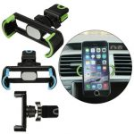 360 Rotating Car Air Vent Holder Stand Mount Adjustable Clip For iPhone 6S 50-80mm Cell Phone