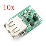 10Pcs DC-DC 0.9V-5V USB Output Charger Step Up Power Module