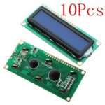 10Pcs 1602 Character LCD Display Module Blue Backlight