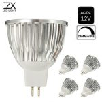 ZX Dimmable MR16 4.5W 15 SMD 5730 LED Pure White Warm White Spot Lighting Bulb AC/DC 12V