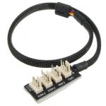 4P Female To 4-Port Male PC Host Case CPU PC Fan Hub Cable For Multi Way PWM Fan