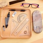Deli 9591 Ruler Drawing Suit 8 Pieces Of Compasses Ruler Student Math Set