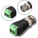 Male Coax CAT5 To CCTV Coaxial BNC Camera Video Balun TV Connector Adapter