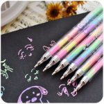 Rainbow Segmented Colorful Gel Ink Pens for Scrapbook Photo Album DIY