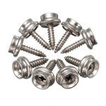 25PCS M4×15mm Stainless Steel Screw Snap Button Wall Nail