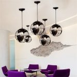 Modern World Map Globe Pendant Chandelier Hanging Lamp Home Office
