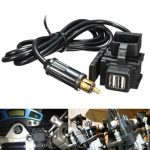 12-24V Motorcycle GPS Mobile Phone Dual USB Power Supply Port Socket Charger For BMW