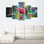 Frameless Canvas Print Abstract Dancing Lovers Modern Wall Art Picture Home Decor