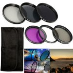 10in1 58mm UV CPL PLD ND2 ND4 ND8 Filter Kit With Lens Hood Cap For Nikon Canon Camera