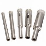 5pcs Diamond Hole Saw Drill Bit Set 5/6/8/10/12mm Tile Ceramic Glass Porcelain Marble Hole Saw