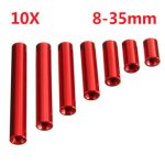 "Suleve""¢ M3AR1 M3 Aluminum Alloy Standoff Studs 8-35mm Red Round PCB Board Spacers Standoffs 10pcs"