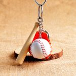Mini Baseball Glove Sport Ball Pendant Exquisite Gift Bags Car Key Chain Ring