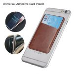 USAMS Universal Adhesive Card Pouch PU Leather Card Slot Sticker Card Holder For iPhone Samsung HTC LG