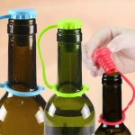Honana Anti-lost Silicone Bottle Stopper Cork Hanging Button Wine Beer Cap Plug
