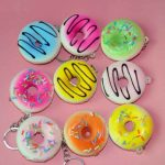 1PCS 5X2CM Simulation Whole PU Doughnut Squishy Toy Phone Chain