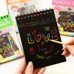 5PCS Fun DIY Doodling Scratch Painting Book Kids Children Educational Toy