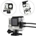 Side Open Skeleton Protective Housing Protective Case Cover Mount For GoPro Hero 4 Camera