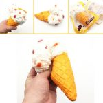 Giggle Bread Ice Cream Cone Squishy 19 10cm Original Packaging Slow Rising Collection Decor Toy
