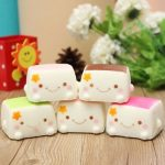 Squishy Tofu Pudding Random Color Decor Toy Gift 6 6 4cm