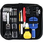 146PCS Watchmaker Watch Link Pin Remover Opener Repair Tool Kit With Case