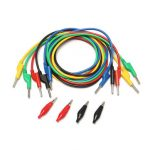 5Pcs 5 Colors Silicone Banana to Banana Plugs Test Probe Leads Cable
