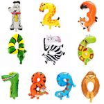 1PC 16 Inch Animal Number Foil Inflatable Balloon Wedding Happy Birthday Party Decoration Gifts