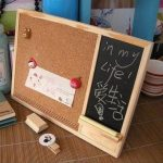 Wooden Framed Cork Pin Notice Memo Board 280mm 22mm For Office Home Kitchen