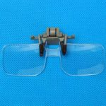 2X Magnification Hand Free Glasses Style Magnifier Loupe With Clip For Reading