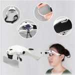 1.0X 1.5X 2.0X 2.5X 3.5X Magnifier Loupe Magnifying Glasses With 2 LED Lights Lamp