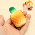 Squishy Pineapple 4.5 7.5cm Fruit Key Chain Phone Bag Strap Pendant Decor Gift