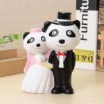 Vlampo Squishy Panda Wedding Couple Lover Slow Rising Original Packaging Colletion Toy Gift Decor