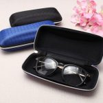 Zipper Hook Glasses Box Compression Resistance Plastic Sunglasses Travel Carry Case Bag