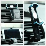 360 Rotate Car Air Vent Holder Stand Mount For Width Within 50~80mm Adjust Clip