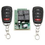 12V 315Mhz 4CH Channel Relay Wireless Remote Control Switch With 2 Transmitter