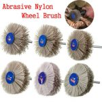 80-600 Grit Abrasive Nylon Wheel Brush Woodworking Polishing Grindering Wheel