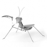 Aipin DIY 3D Puzzle Stainless Steel Model Kit Mantis Silver Color