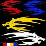 Motorcycle Car Sticker Dragon 11x14cm Fashion Reflective Decals 5 Colors