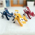 Retro Vintage Plane Airplane Model Aircraft Home Decoration Toy