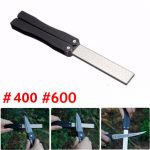 5 Inch Double-Sided Folding Pocket Diamond Knife Sharpening Stone Sharpener 400 600 Grit