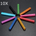 10Pcs M3 40mm Knurled Standoff Aluminum Alloy Anodized Spacer