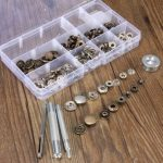 15mm Press Stud Buttons Poppers Leather Craft with Fixings Tools Kit
