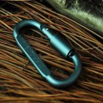 1Pcs Outdoor D Shape Carabiner Bottle Hanging Buckle Hook Keychain Screw Lock Aluminum Alloy
